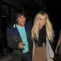 Ronnie Wood takes his new girlfriend Nicola Sargent to an art exhibition