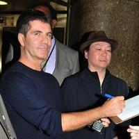 Simon Cowell outside NBC studios for an appearance on 'Late Night with Jimmy Fallon'