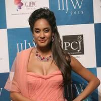 Lisa Haydon - India International Jewellery Week 2013 - Day 1 Photos