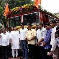 Abhishek Bachchan flag off special BEST buses photos