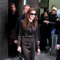 Photos: Angelina Jolie leaves her Manhattan hotel to film an interview