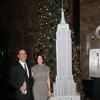 Jerry and Jessica Seinfeld light the Empire Statein honour of Baby