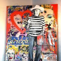 Christian Audigier and his girlfriend Nathalie Sorensen attend Art Basel