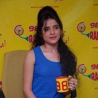Piaa Bajpai at Radio Mirchi on Back Bench Student Promotion Pictures
