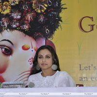 Rani Mukerji - Rani Mukerji At The Launch Of Times Green Ganesha Event - Stills