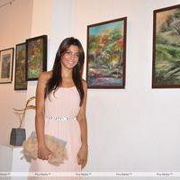 Mugdha Godse - Mugdha Godse at Shyam Kishore Mishra's Art Event - Photos